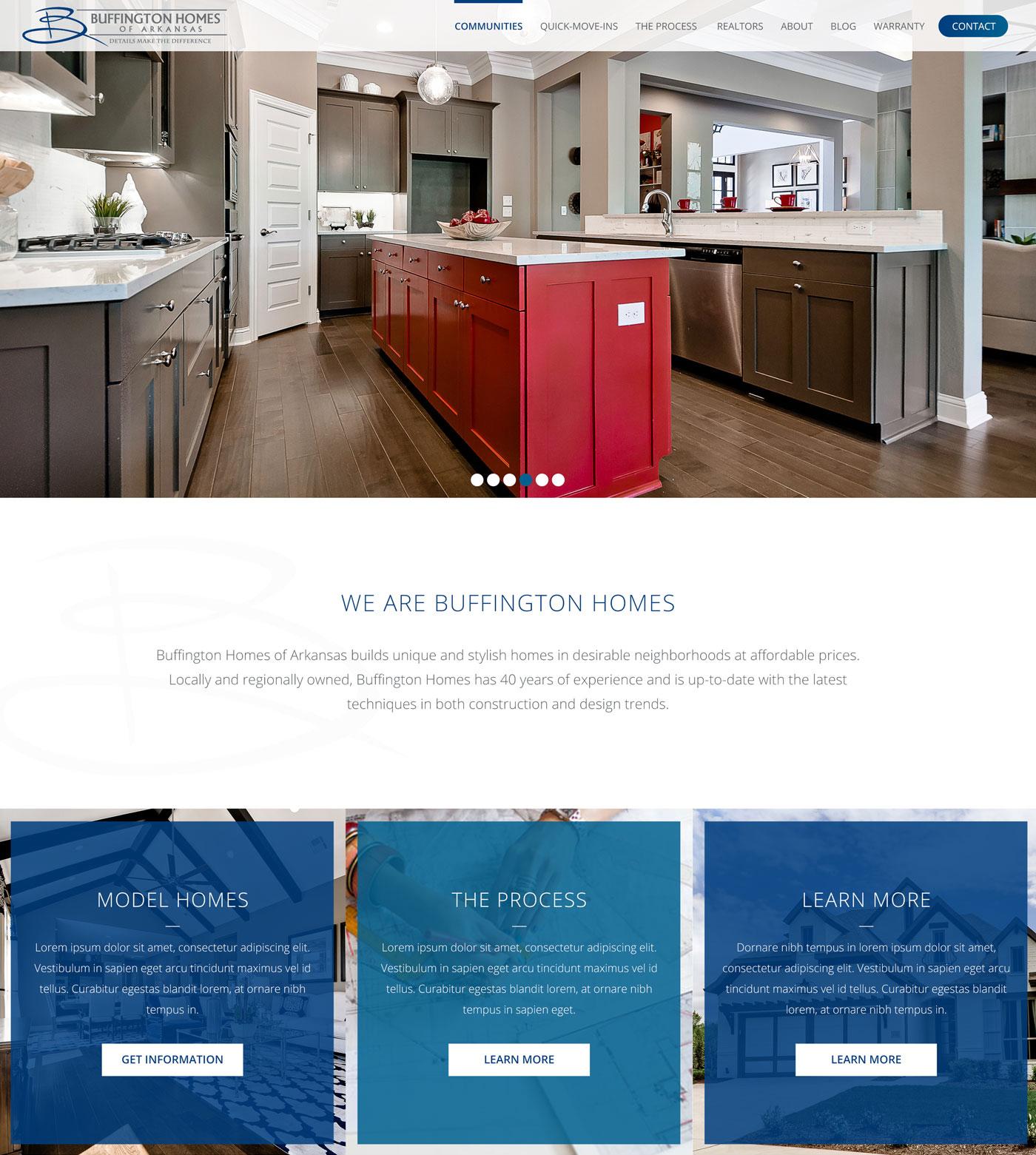 buffington homes of arkansas website homepage desktop