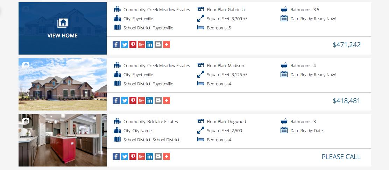 buffington homes of arkansas website home card examples