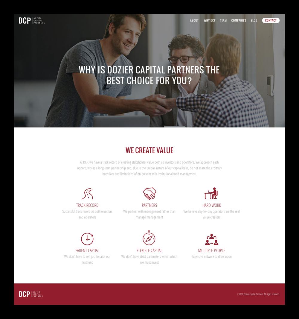 dozier capital website why choose desktop screens