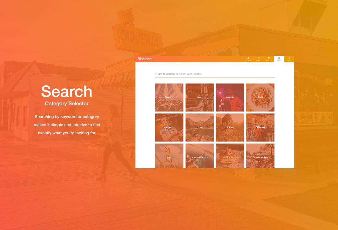 Leisurlist Search