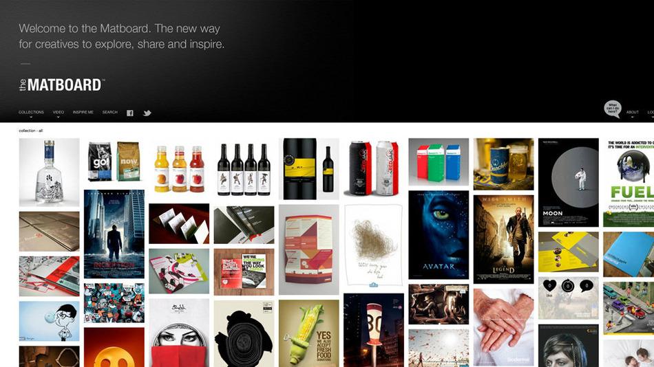 the matboard website desktop screen