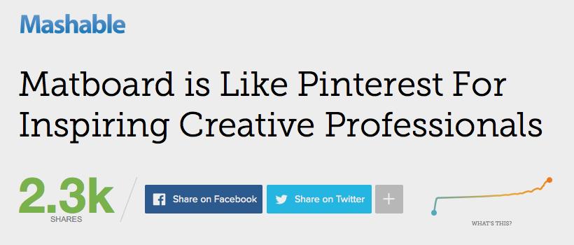 the matboard mashable article headline